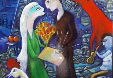 Eva & Patrice Sebben: Le couple Arnolfini «A la manière de …»